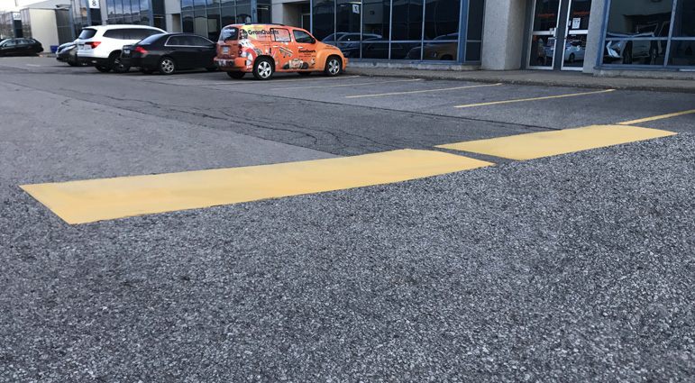 Reducing the risk of careless drivers in retail parking lots